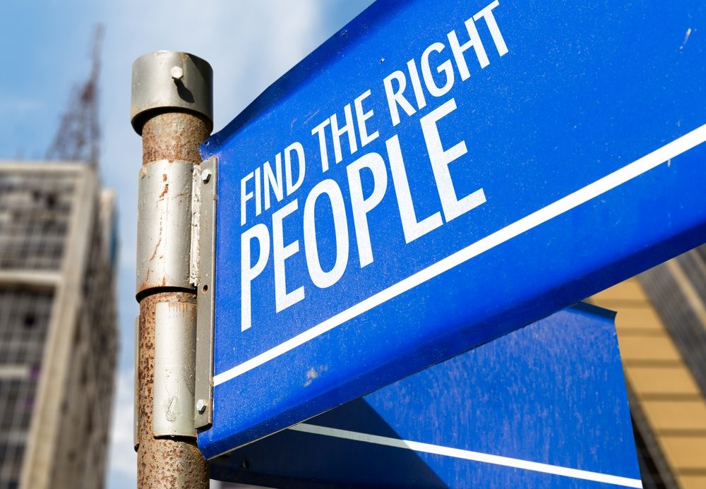 Find The Right People written on road sign-1